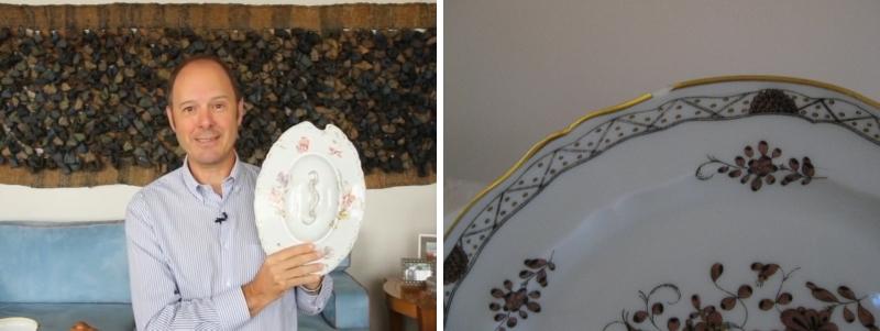 """Muito viajada, Madame de Pompadour soube que na China estavam sendo produzidas lindas porcelanas. Então, resolveu """"importar"""" artesãos chineses para que estes fizessem a louça para substituição dos pratos e talheres, pondo fim também ao hábito de comer com as mãos. Para produzir os copos, usou-se vidro. """"Hoje, aquilo que a Madame de Pompadour idealizou no Século XVII movimenta fortunas"""", destaca."""