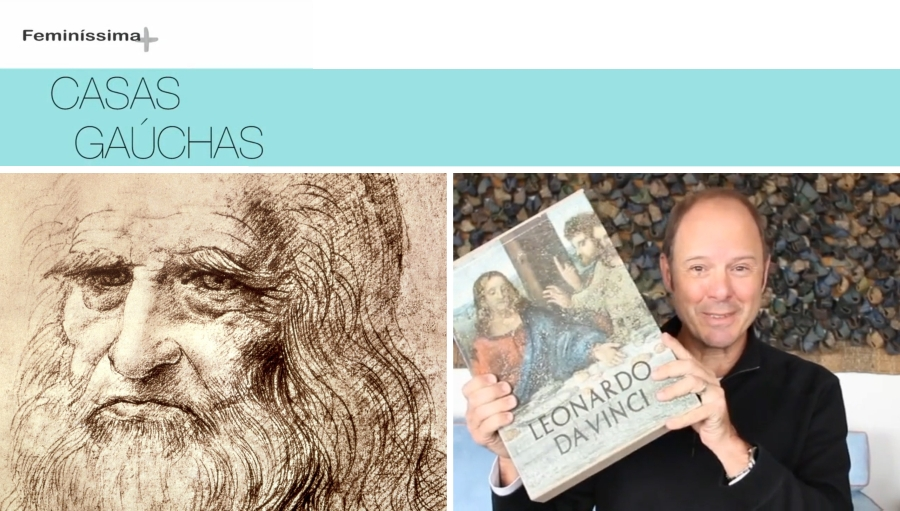 """Considerado por muitos o grande gênio da humanidade, Leonardo da Vinci (1452-1519) foi personagem recorrente do quadro Curiosidades da Arquitetura exibido durante a primeira temporada do programa Casas Gaúchas. Responsável pela atração, o arquiteto Mario Englert confessa um fascínio pelo principal nome do movimento Renascentista. """"Quero contar a história de Leonardo da Vinci e sua paixão pelas casas. Foi ele quem me ajudou a entender que casa pode ser algo bacana"""", destaca."""