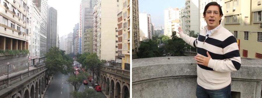 Para Aurvalle, esse eixo da Avenida Borges de Medeiros é típica visão de um filme clássico de 1930, 1940. O Viaduto Otávio Rocha, explicou, foi construído em estrutura de concreto armado, com peças de concreto pré-moldado.