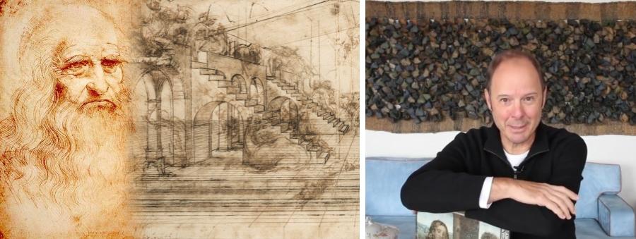 """O arquiteto conta que a jovem, como toda a moça que casava na época, foi morar na França por volta de 1516 levando consigo sua corte particular: amigas, damas de companhia, médico particular, cozinheiros e Leonardo Da Vinci, então aos 70 anos, que foi acompanhado pelo pupilo Francesco Melzi. """"Ele foi ser novamente mestre de cerimônias, com a missão de organizar novamente todas as questões ligadas às liturgias das festas da corte francesa, dentro agora de um estilo italiano, marcado por todas as conquistas da família Medici"""", comenta."""